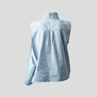 Picture of Loose sleeve blouse with collar