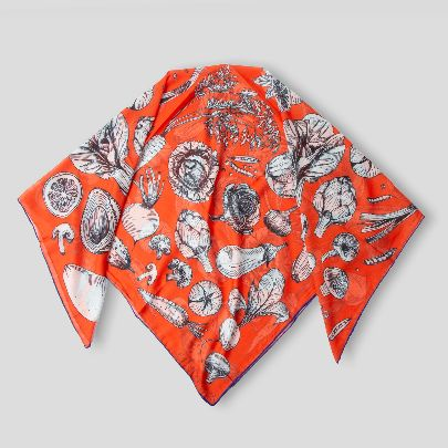 تصویر روسری میخوام سالاد درست کنم