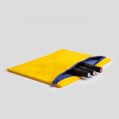 تصویر کیف زیپ دار زرد
