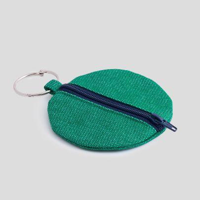 تصویر کیف کوچک گرد سبز