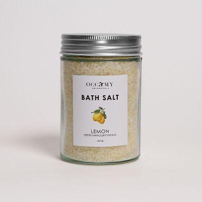 تصویر  نمک حمام لیمو