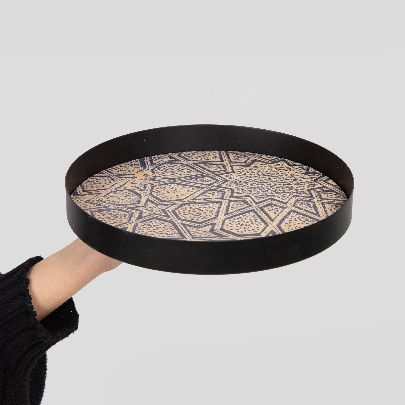 Picture of wooden tray with stars pattern