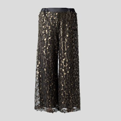 Picture of Wide-Legged Sequin Trousers