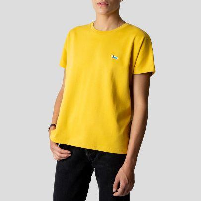 تصویر استین کوتاه زرد زنانه