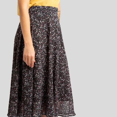 Picture of black floral skirt