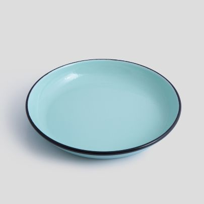 Picture of  Turquoise blue enamel plate