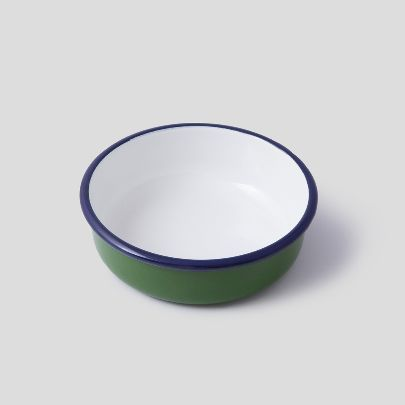 Picture of Green enamel bowl