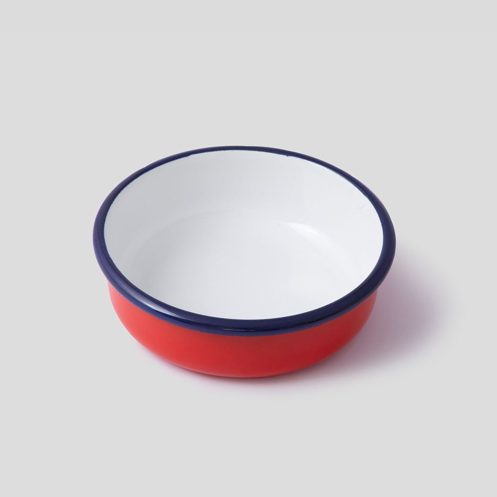 Picture of Red enamel bowl
