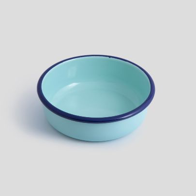 Picture of  Turquoise blue enamel bowl