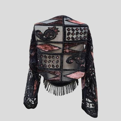 Picture of Black and pink miny pancho