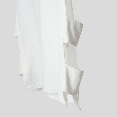 تصویر آستین کوتاه بغل باز سفید