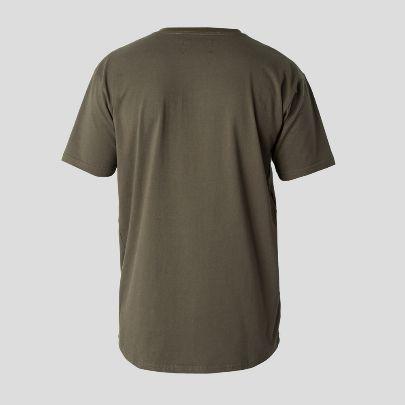 تصویر آستین کوتاه سبز تیره جیب دار