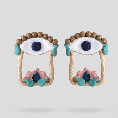تصویر گوشواره چشم و ابرو