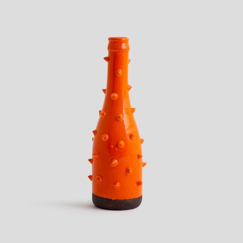تصویر گلدان خاردم نارنجی