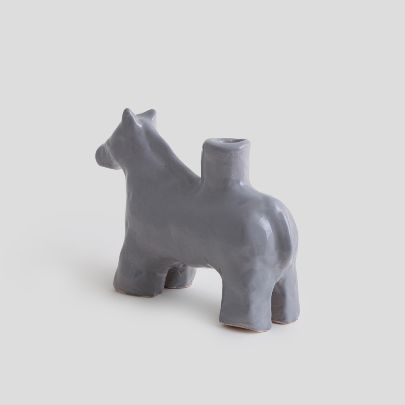 Picture of Grey horse candlesticks