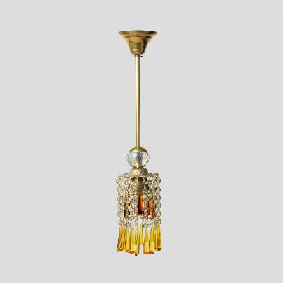 Picture of Orange and yellow chandeliers