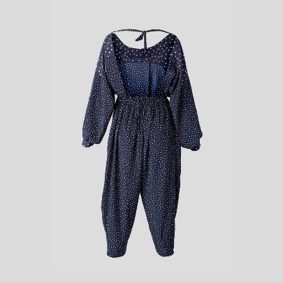 Picture of  Navy blue polka dots overall