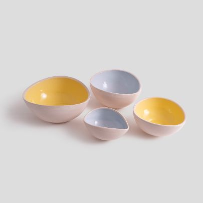 Picture of Blue and yellow bowl