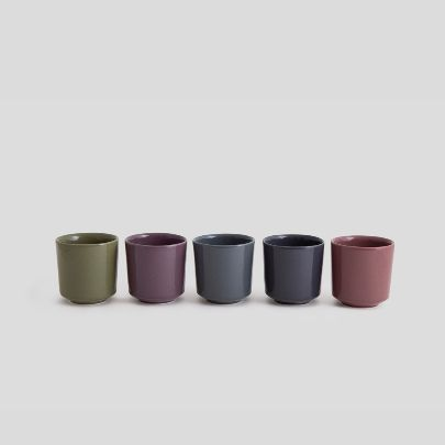 Picture of Five mugs in five colors