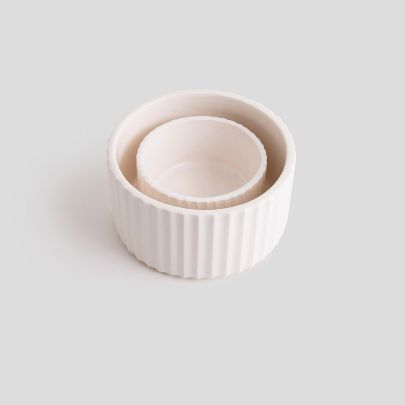 Picture of White scallop container