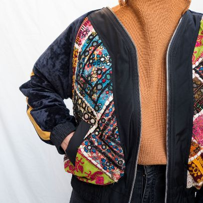 Picture of embroidered bomber jacket