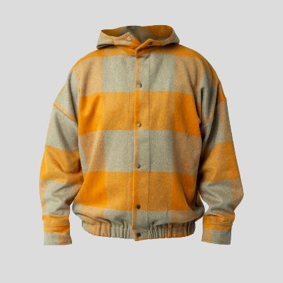 Picture of Orange checkered hoodie
