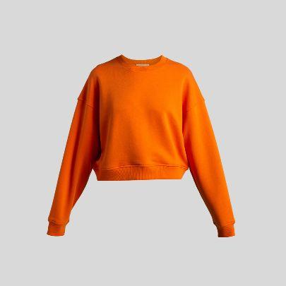تصویر  سوتشرت کوتاه نارنجی
