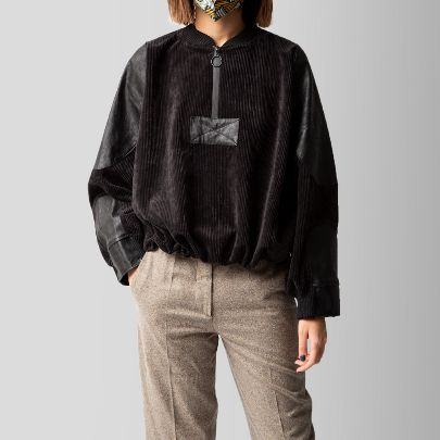 Picture of Black match velvet sweater