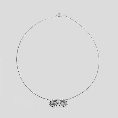 تصویر گردنبند طوق دو شش ضلعی پیوسته