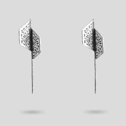 Picture of broken hexagon earrings