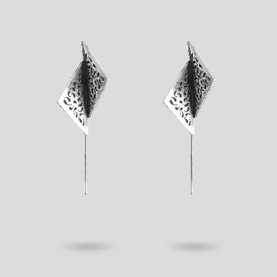 Picture of broken square earrings
