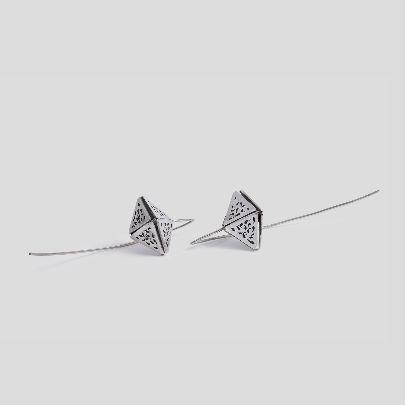 تصویر گوشواره عصایی هرم هلالی