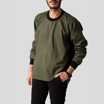 Picture of olive wool pullover