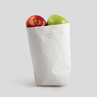 Picture of medium white paper sac