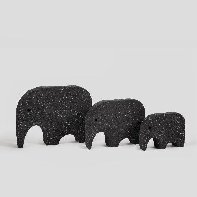 Picture of dark gray elephant collection