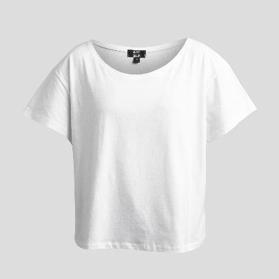 تصویر آستین کوتاه سفید ساده