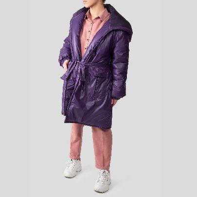 Picture of puprle water repellent duvet coat