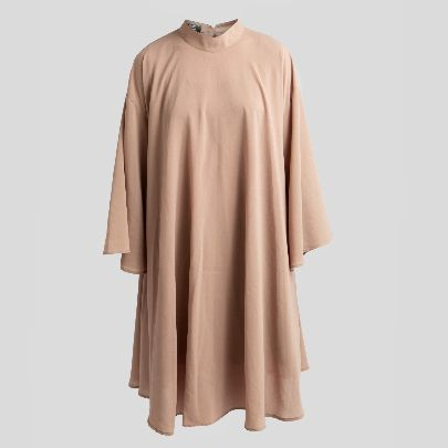 تصویر پیراهن آستین بلند ساده خاکی