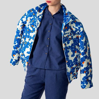 Picture of floral puffer bomber