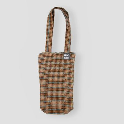 Picture of brown check bag