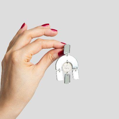 تصویر گوشواره آرک آینه و سکه