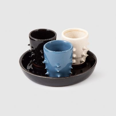 Picture of set of 3 spiked shots with a tray