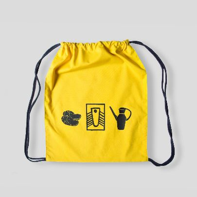 Picture of yellow toilet back pack