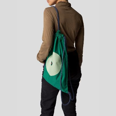 تصویر کوله پشتی آستردار سبز