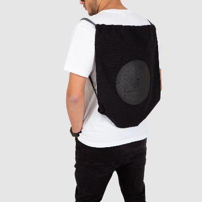 تصویر کوله پشتی پارچه ای مشکی