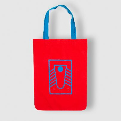 Picture of red toilet tote bag