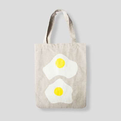 Picture of grey egg tote bag