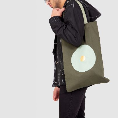 Picture of olive tote bag
