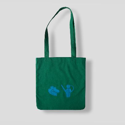 Picture of green toilet tote bag