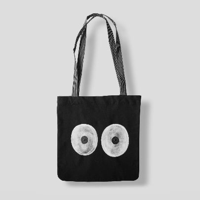 Picture of black tote bag